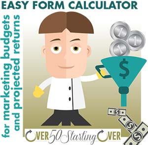 Easy form calculator- determine your online marketing budget and potential return on investment